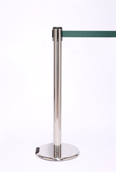 RollerPro250 E-Z Roll Wheeled Retractable Belt Stanchion - Steel