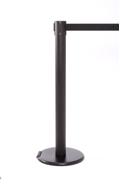 RollerPro300 E-Z Roll Wheeled Retractable Belt Stanchion - Black