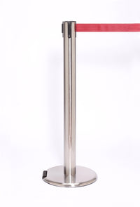 RollerPro300 E-Z Roll Wheeled Retractable Belt Stanchion - Satin