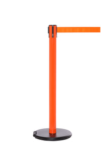 RollerSafety 250 E-Z Roll Wheeled Retractable Belt Stanchion - Orange