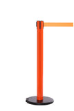 RollerSafety 300 E-Z Roll Wheeled Retractable Belt Stanchion - Orange