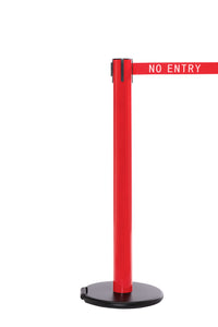 RollerSafety 300 E-Z Roll Wheeled Retractable Belt Stanchion - Red