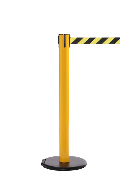 RollerSafety 300 E-Z Roll Wheeled Retractable Belt Stanchion - Yellow