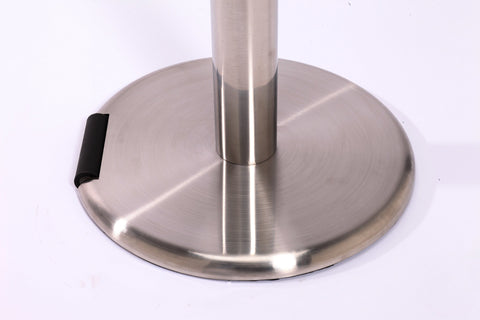 RollerPro Xtra Brushed Stainless Steel Wheeled Rolling Base - Pro Stanchions