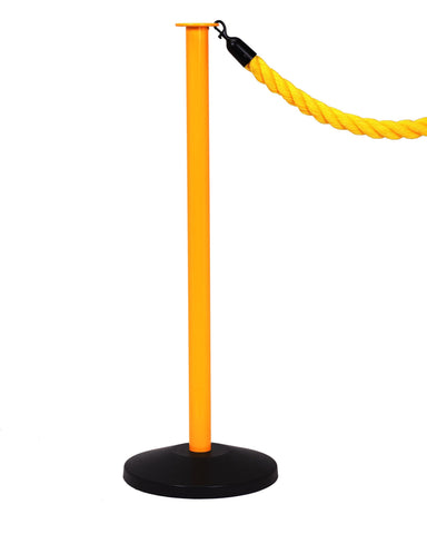 RopeMaster Safety Economy Post and Rope Stanchion Yellow