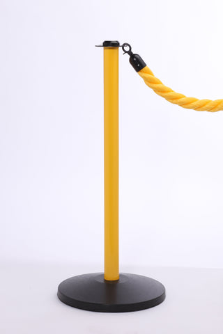 RopeMaster Safety Stanchion Yellow Post Black Base