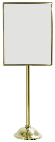 "22"" x 28"" Brass Designer Series Sign Post - Poster Stands 