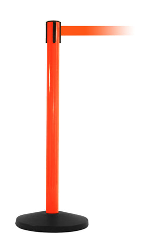 SafetyMaster Orange Retractable Belt Safety Stanchion 8.5 Foot Belt