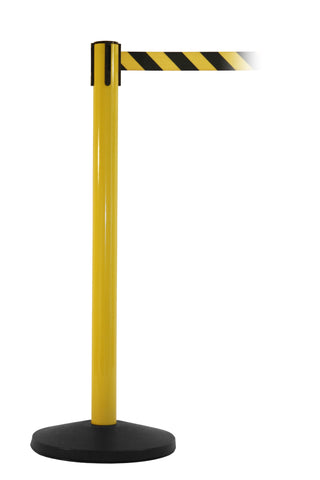 SafetyMaster Yellow Retractable Belt Safety Stanchion 8.5 Foot Belt