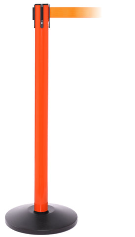 SafetyPro Orange Retractable Tape Safety Stanchion