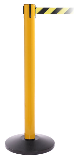 SafetyPro 300 Industrial-Tough Retractable Belt Stanchion - Yellow