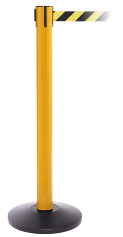 SafetyPro 300 Retractable Belt Safety Barrier Yellow Post