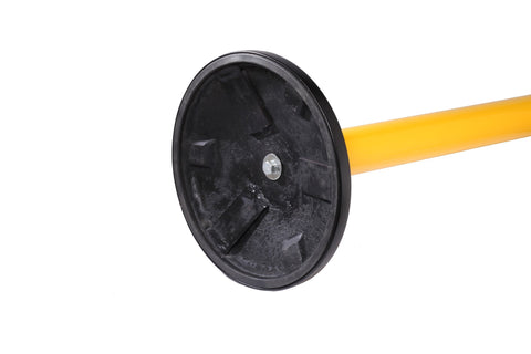 Full Circumference Rubber Floor Protector SafetyPro Orange Retractable Tape Safety Stanchion