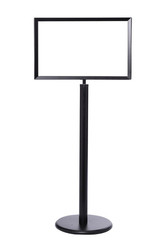 "Heavy Duty Sign Stand Horizontal Sign Frame  14"" x 22"" Black"
