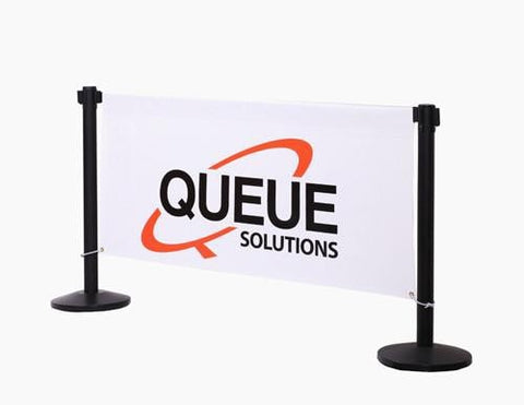 custom printed retractable belt stanchion banner advertising