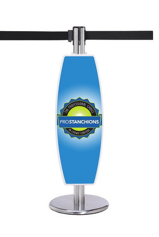 Custom Branded Stanchion Sign Advertising