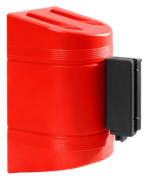 WallPro 300 Black 10 Foot Retractable Wall Mount Access Control Belt Barrier Red