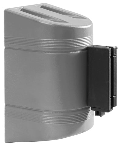 WallPro 300 Black 10 Foot Retractable Wall Mount Access Control Belt Barrier Silver