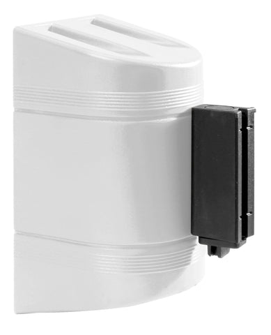 WallPro 300 Black 10 Foot Retractable Wall Mount Access Control Belt Barrier White
