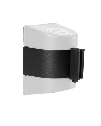 WallPro 400 15 Foot Magnetic Wall Mount Retractable Belt Barrier White