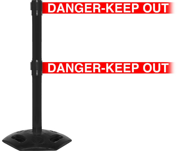 "WeatherMaster Twin Xtra Wide 3"" Dual-Belts Outdoor Post - Black"