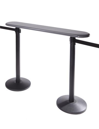 Post Top Writing Table for Retractable Belt Stanchions