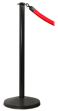 Black Ever-Straight Flat Top Economy Post and Rope Stanchion