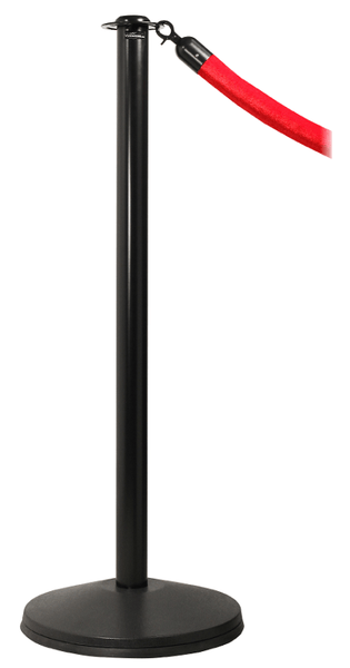 Ever-Straight Flat Top Economy Post & Rope Barrier Stanchion, Visiontron CP61S-SB