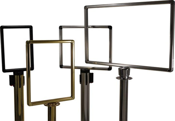 Group - Designer Series Premium Hinged-Top Post Mount Sign Frames