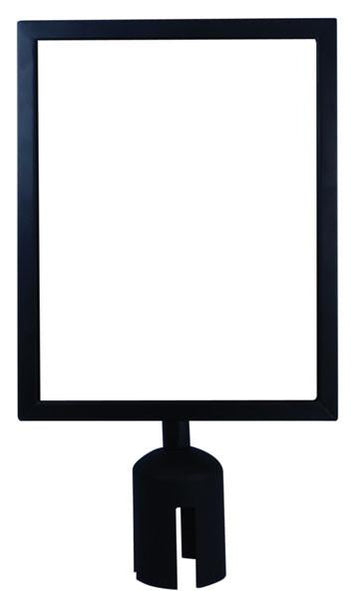 "Black - Metal Sign Frame Kit 8.5"" x 11"" For TensionLine Line King Barriers"