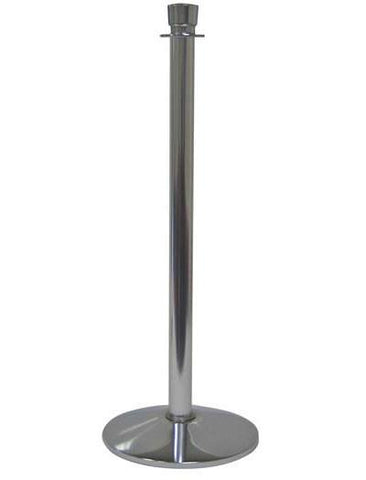 Visiontron Urn Top Post and Rope Stanchion Polished Chrome with Sloped Base