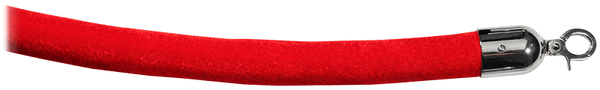 "Red Velour Velvet 1.5"" Cotton Core Stanchion Rope - Economy"