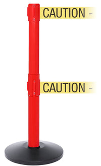 SafetyPro Twin Xtra Industrial-Tough Retractable Belt Barrier - Red