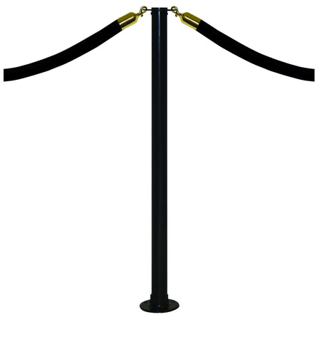 Black Flat Top Magnet Mount Post and Rope Stanchion
