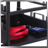 Storage Tray - Portable Stanchion Storage Cart - Horizontal 12-Post Capacity QS
