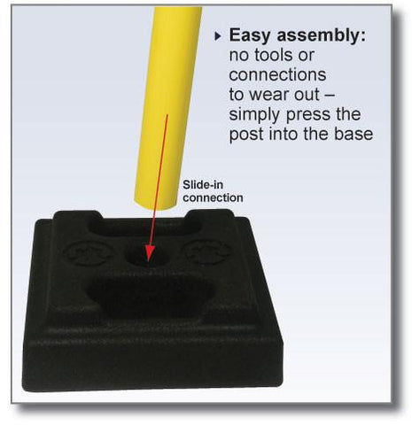 Retracta Belt Utility Post Easy Assembly
