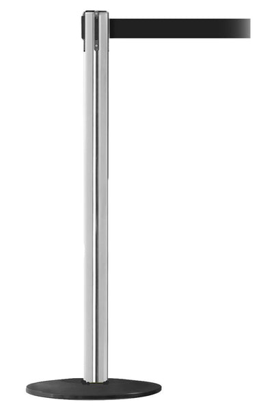 WeatherPro250 Satin Steel - Outdoor Belt Stanchions | Queue Solutions