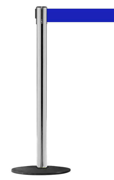 WeatherPro 250 Xtra Polished Steel - Outdoor Belt Stanchions | Queue Solutions