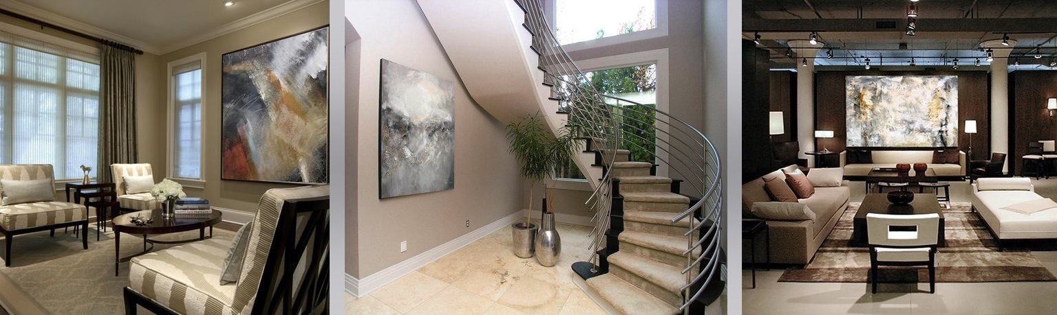 Custom paintings range from small works to huge, for residences or corporations.