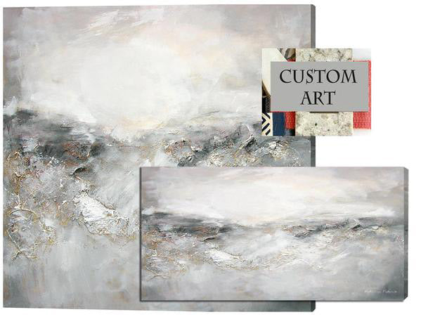 Custom abstract landscape painting.