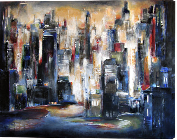 Paintings of Chicago skyline