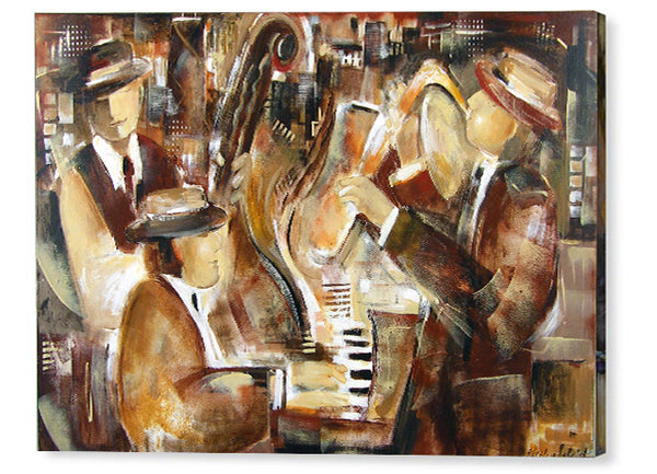 Choose from dozens of jazz music art prints on canvas about music and musicians.