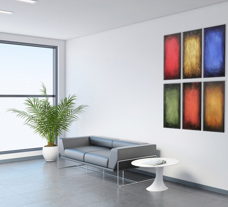 Abstract colorfield paintings