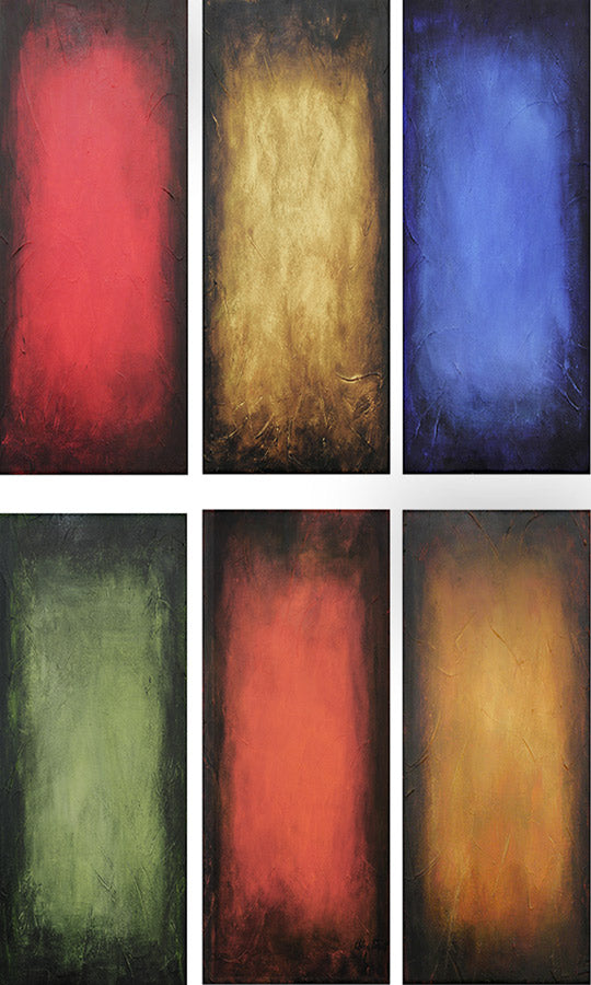 Custom abstract color-field paintings