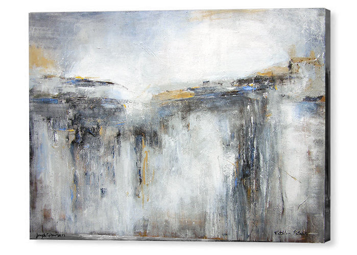 Abstract Landscape Canvas Art Prints, Abstract Landscape Painting Print,