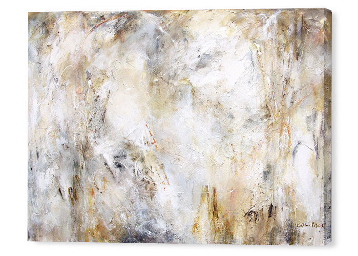 Abstract art canvas prints in neutral colors