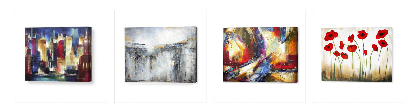 Shop our collections of canvas wrap prints.