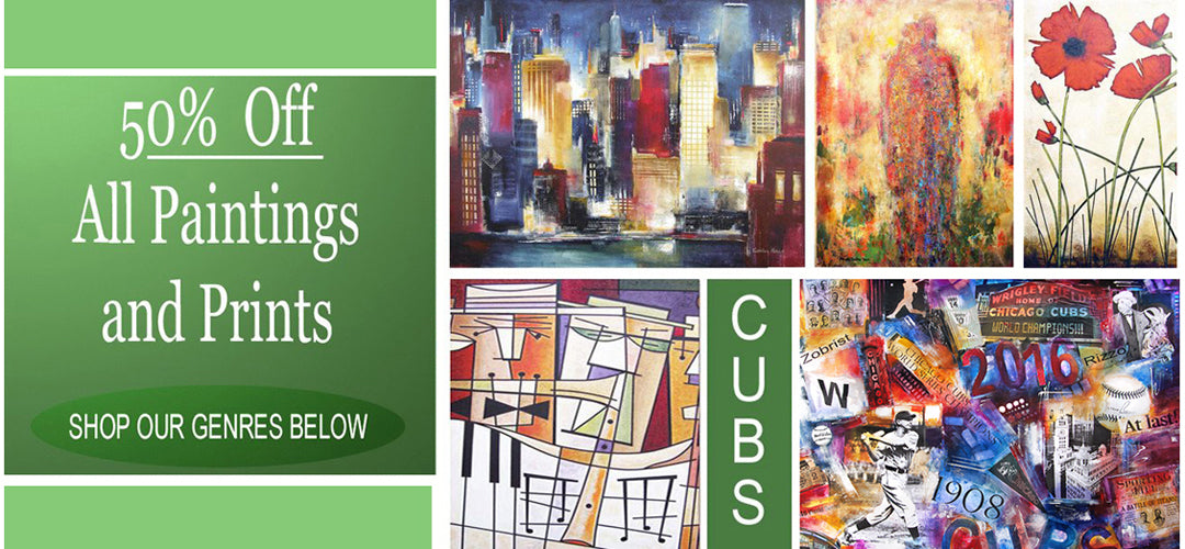 Chicago Skyline Art - Canvas Prints of Chicago created from original Paintings of Chicago. Large paintings of Chicago and custom paintings are our specialty.