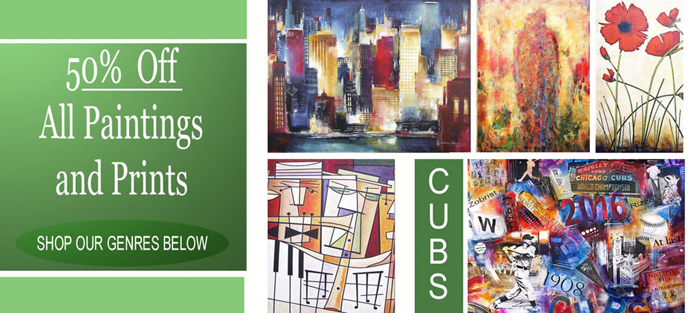 Chicago Skyline Art - Prints and Paintings