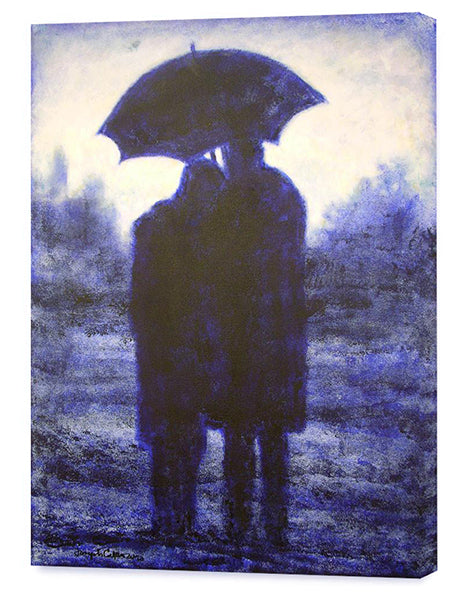 Romantic couple canvas prints from original romantic art paintings.